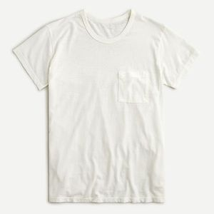 NWT J Crew Made-in-LA burnout pocket T-shirt